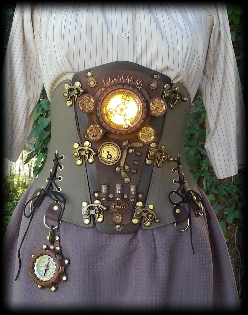 Steampunk Corset Belt Cosplay Costume Outfit Burning man image 0
