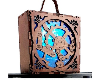 Steampunk Accessory, Lantern. Lamp, Alternative Gift, Present, Cadeau Geschenk, Cosplay Costume, Alternative Gift for Him, Larp Lamp