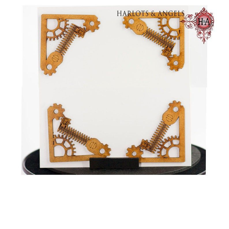 Steampunk Craft Shapes Set of Four Book Corners Perfect for image 0