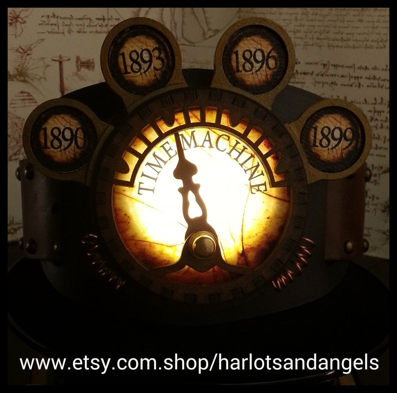 Steampunk Time Travel Lamp Larp and Cosplay image 0