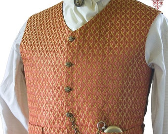 Mens Waistcoat Sewing Pattern, PDF Download, Perfect For Victorian Steampunk Cosplay and Wedding Costumes
