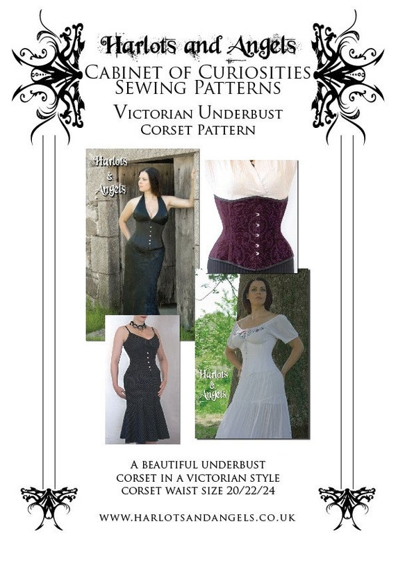 Victorian Underbust Corset Sewing Pattern Small UBPS | Etsy