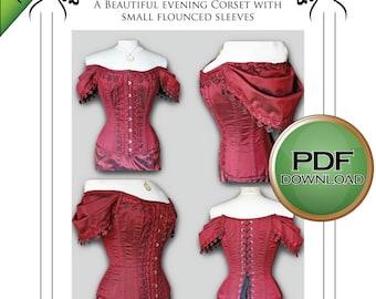 Corset Sewing Pattern   Pdf download, Medium Size