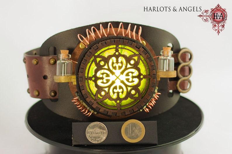 Steampunk lamp Magical Wearable Belt Lamp Cosplay Belt Larp image 0