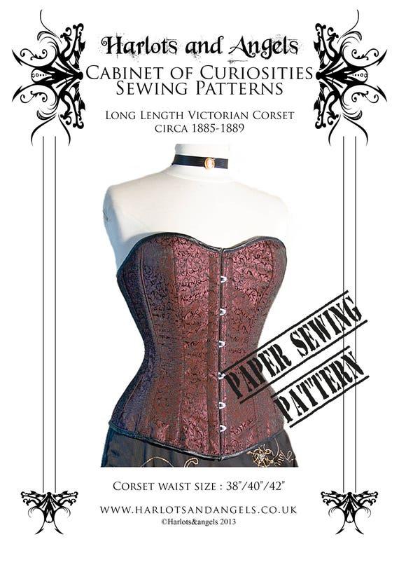 Korsett Schnittmuster Steampunk Cosplay Gothic Victorian | Etsy