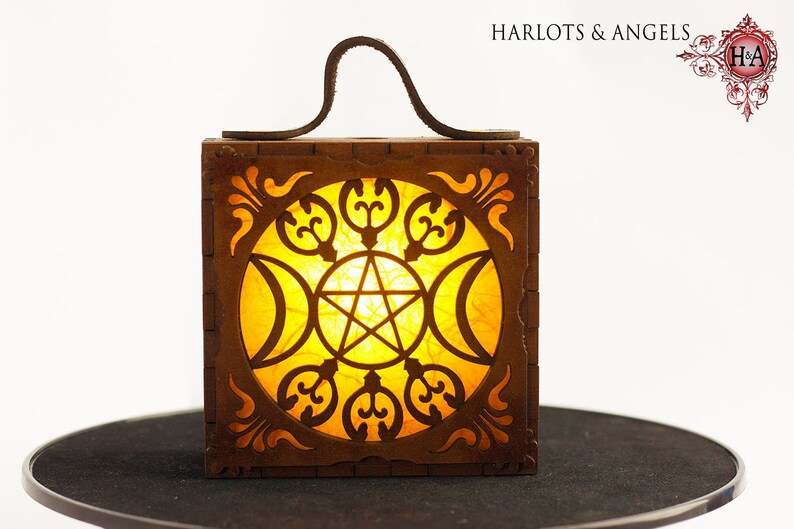 Magical Triple Goddess Costume Lamp  in Golden Yellow image 0