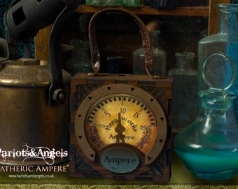 Steampunk Lamp Ampere box, Corset Belt Steampunk accessory, lantern, larp, cosplay, Accessories