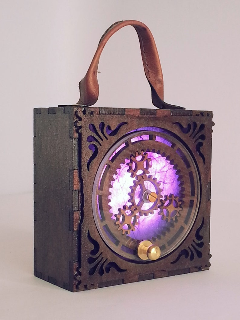 Steampunk Lamp Wearable Lantern for Costumes Working Gears image 0