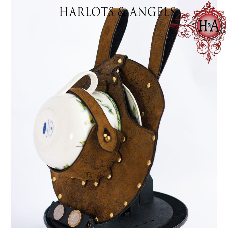 Steampunk Holster Teacup and Saucer Included Perfect for image 0