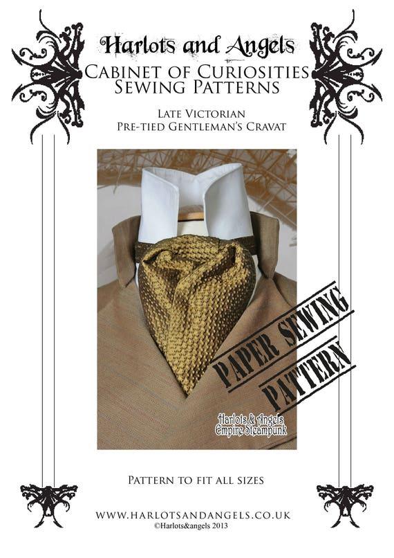Krawatte Hals binden Schnittmuster Sherlock Holmes Cosplay | Etsy