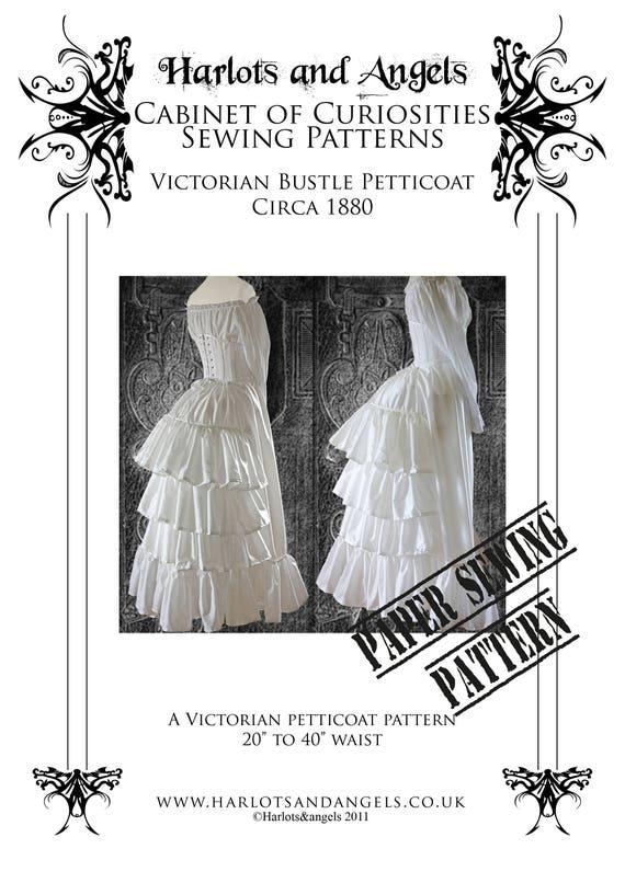 Steampunk Sewing Pattern Victorian Bustle Skirt Skirt | Etsy