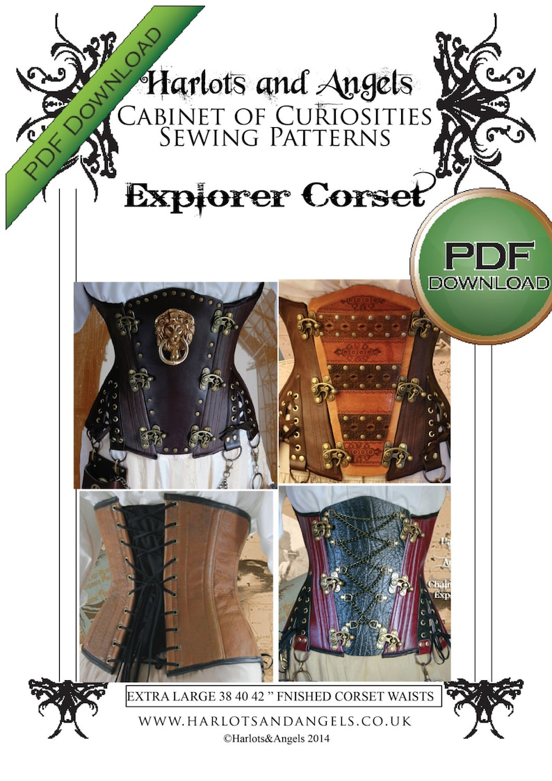 Corset Sewing Pattern Steampunk Under Bust Corset PDF image 0