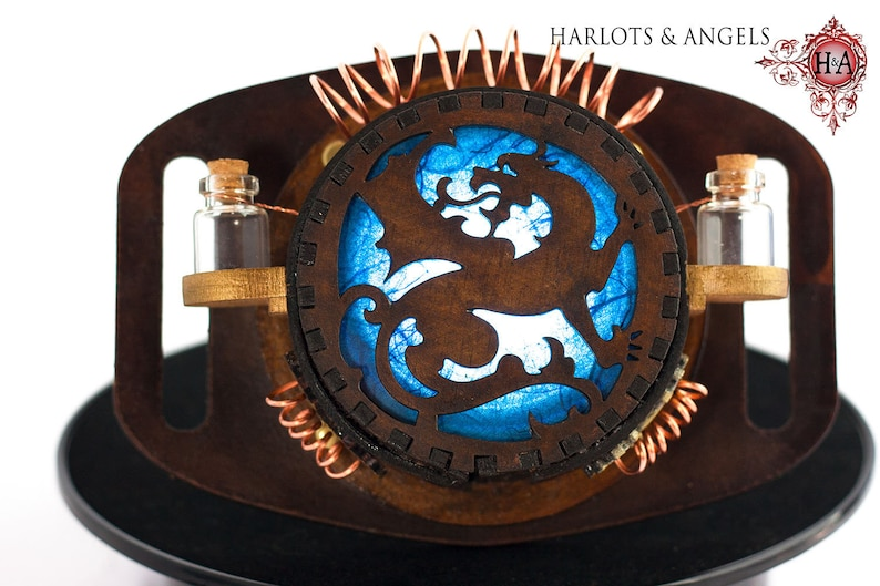 Steampunk Lamp Cosplay Blue Dragon Belt lamp Accessory for image 0