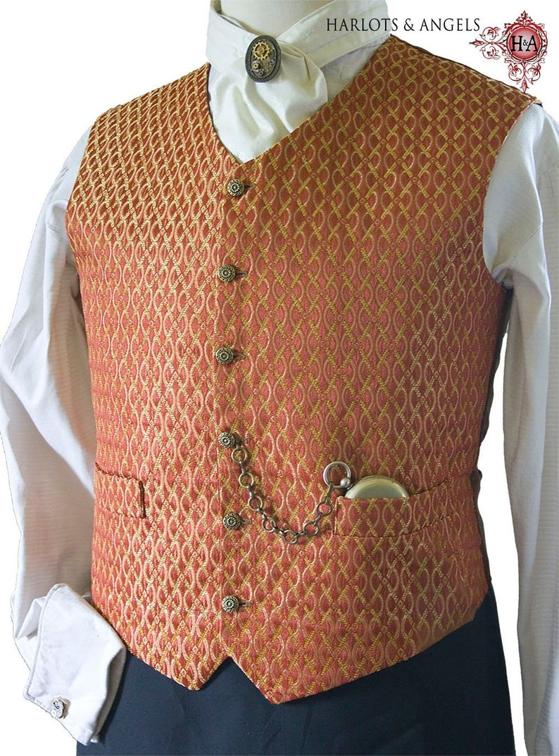 Men's Vintage Reproduction Sewing Patterns Mens Waistcoat Sewing Pattern PDF Download Perfect For Victorian Steampunk Cosplay and Wedding Costumes $8.00 AT vintagedancer.com