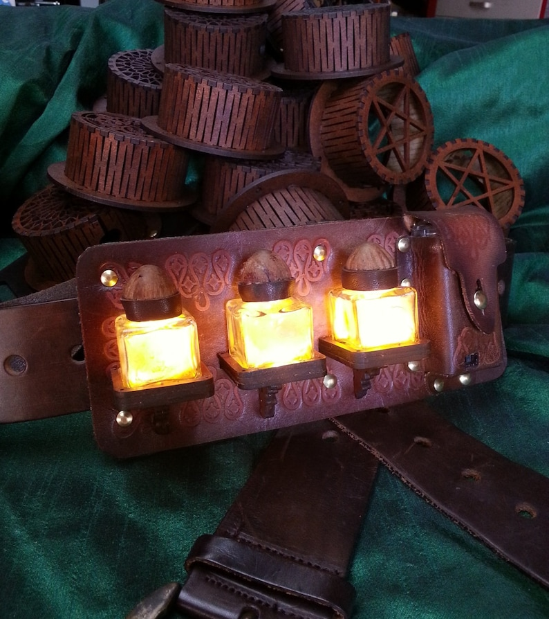 Potions Belt Accessory LED Light for Larp Pirates Steampunk image 0