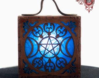 Fantasy Costume Lamp, Triple Goddess in Blue