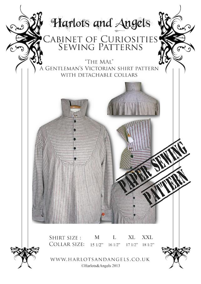 Sewing Pattern Steampunk Victorian Western Mens Shirt Etsy