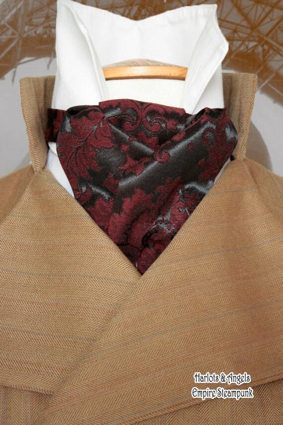 Cravat Neck Tie Sewing Pattern Pdf Download Steampunk Etsy