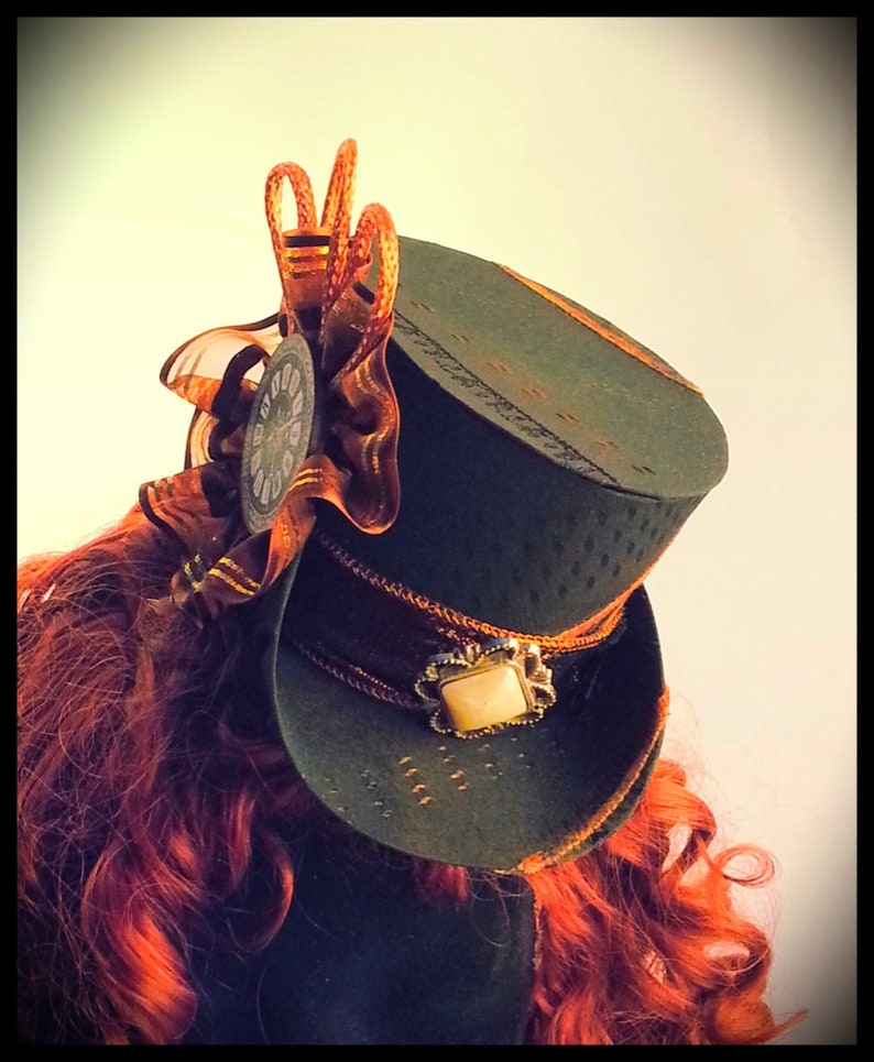 Hat Sewing Pattern For a Mini Top Hat for Steampunk Gothic image 0
