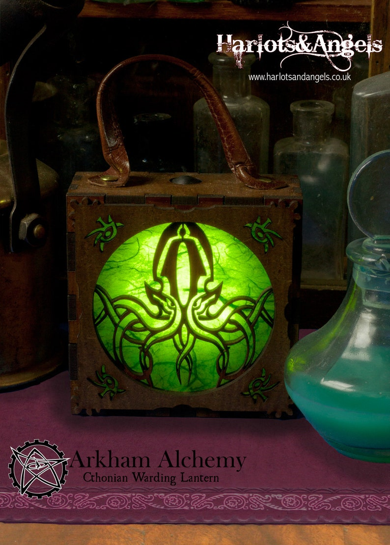 Cthulhu Steampunk Lamp Alternative gift Costume Accessories image 0