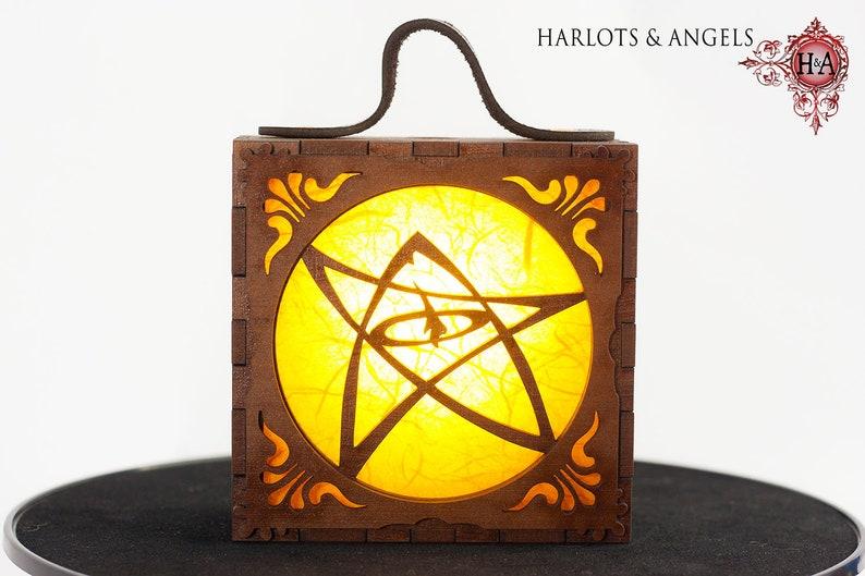 Steampunk Lamp Alternative gift Elder Sign Cthulhu H P image 0