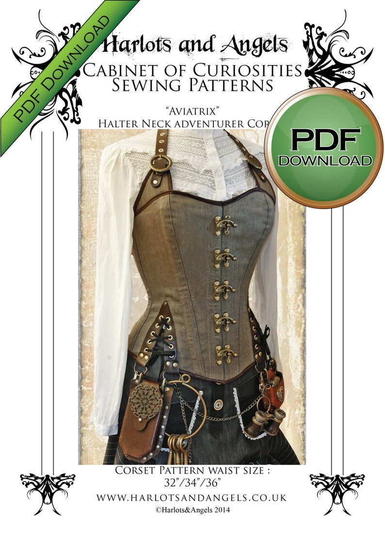 Corset Sewing Pattern  Large size Perfect to Sew for Pirates image 0