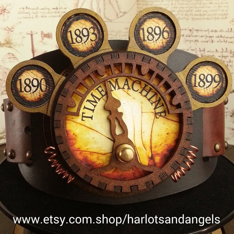 Steampunk Time Machine Lamp For Cosplay Belts And Costumes Etsy