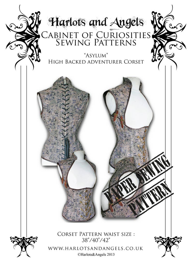 Corset Sewing Pattern. XL Plus sized For Steampunk Cosplay image 0