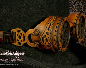 Steampunk Goggles, Geek Gift, DIY KIT, Easy Make Yourself, Lovecraft, Leathercraft, Cosplay Costume Outfit, Cadeau, Burning Man