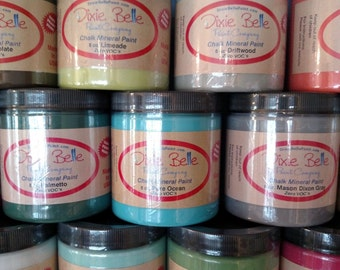 Dixie Belle Paint  8 Ounce Free Gifts with Purchase Choice of Colors
