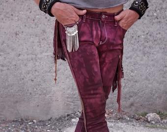 RP Charm and Treasure Pants | Cyberpunk Pants Steam Punk Streetwear Pants | Goth Pants Post Apocalyptic Rave Pants