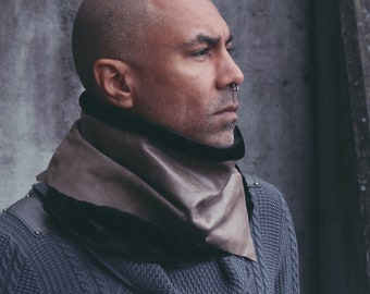 RP Neck Cowl | Apocalyptic Leather Neck Collar | Neck Warmer