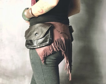 Festival Utility Belt / Pocket Belt / Leather Holster / Thigh Holster / Hip Bag / Fanny Pack / Burning Man / Festival / Leather Belt