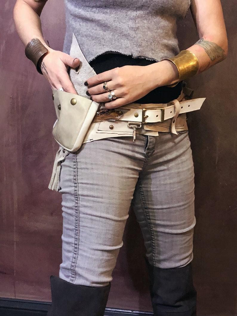 e33866f8d White Thunder Festival Belt   Festival Clothing   Pocket Belt