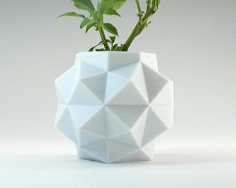 Octagon Planter Small Geometric Planter White Pot Mini Desk Planter Pot Hexagon Pot Small Modern White Planter Mini Geometric Pot