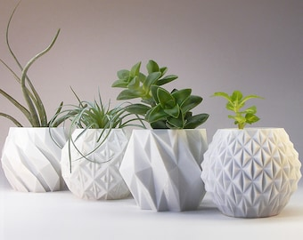 3d Printed Vases Amp Planters By Meshcloud On Etsy