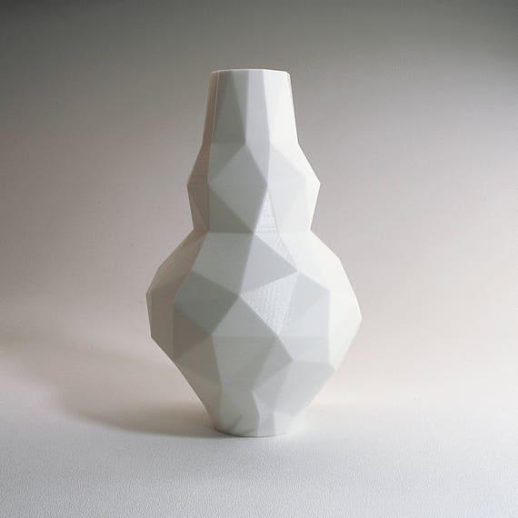 Low Poly 3d Modern Vase Modern Pottery Modernist Vase Gourd Etsy