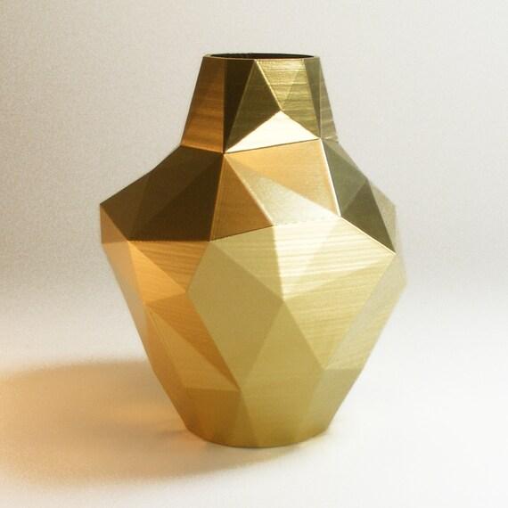 Decorative Vases Modern Gold Vase Abstract Zen Decor Golden Etsy