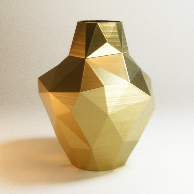 Decorative Vases Modern Gold Vase Abstract Zen Decor Golden Etsy