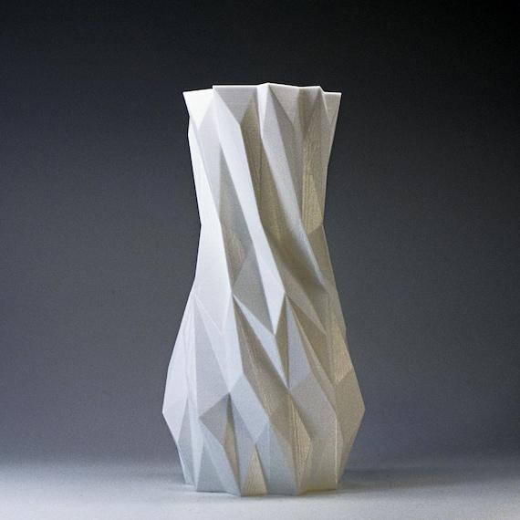 3d Printed Home Decor Vase White Vases Living Room Decor Etsy