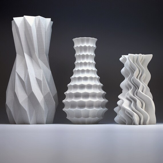 Modern Home Decor Bud Vase Set Geometric Vase Art Vases Etsy