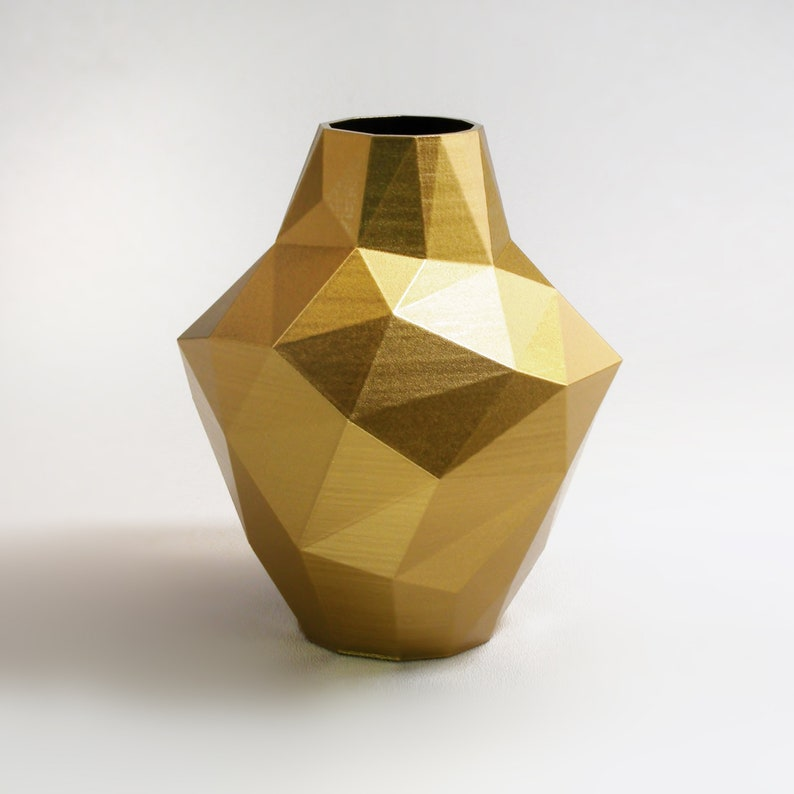 Superbe Decorative Vases Modern Gold Vase Abstract Zen Decor Golden Decor Golden  Triangle Vase Gold Decor Gold Bud Vase Modern Vase