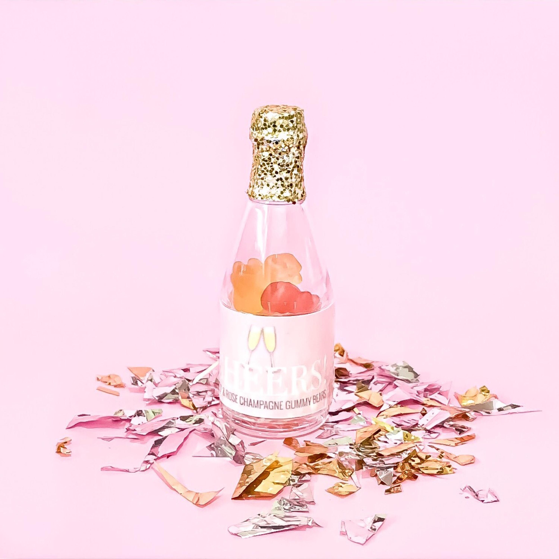 Champagne Sparkling Bottle Gummy Rose Brut Flavored Party | Etsy