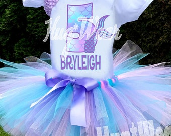 Princess Crown Pink Blue Purple Polka dots dotted 5th Fifth Girl Birthday Tutu Outfit Custom Personalized Name Age Party Shirt Set