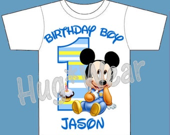 baby mickey birthday shirt mickey mouse birthday tee any age
