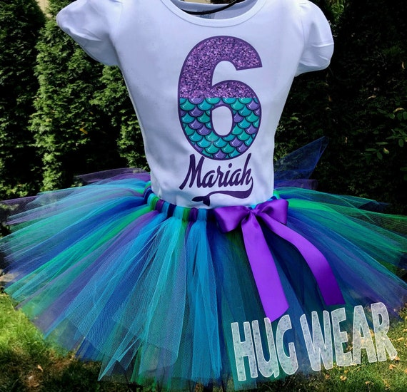 6th birthday numbers  FREE SHIPPING! 5th 3rd 4th Available in 1st Mermaid theme Birthday shirt Appliqu\u00e9 Tutu outfit 2nd