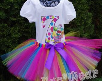 Shopkins Birthday Shirt + Tutu outfit (Any age)