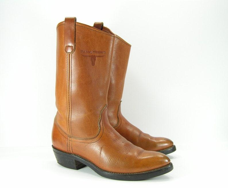 df36c3ca1e Botas vaqueras para mujer 10 miel marrón vintage Unión Mason