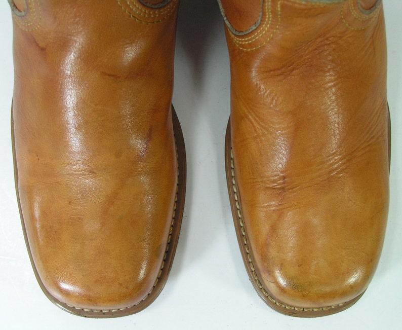 2fe03415ec3bf campus cowboy boots womens 6 b m camel tan vintage acme leather western  cowgirl