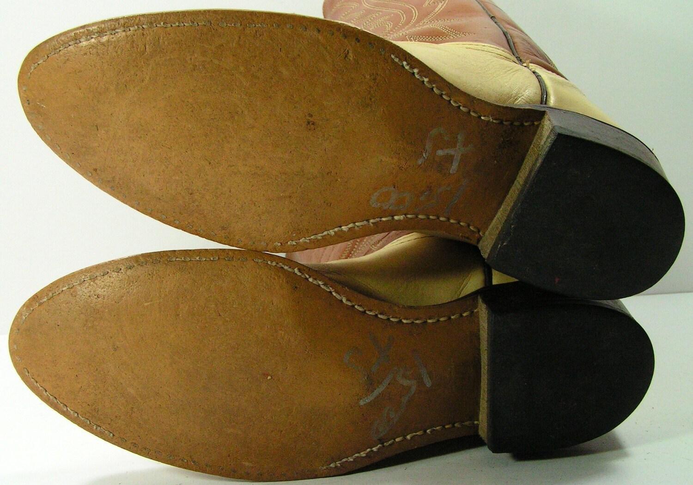 Acme Vintage  botas  vaqueras para mujer C C C 6 o 6,5 m b hueso marrón vaquera cuero occidental imitación lagarto d91418